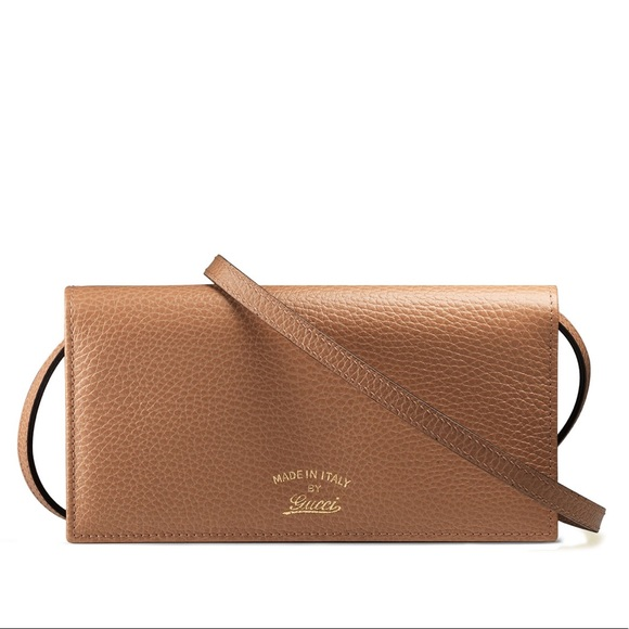 structural disablities best selection of best supplier New Gucci Tan Crossbody Bag / Wallet / Clutch NWT